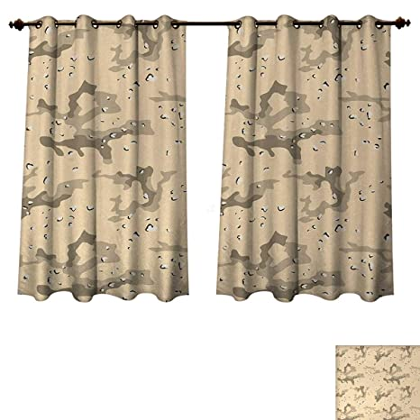 Amazon Com Anzhouqux Camo Blackout Curtains Panels For Bedroom