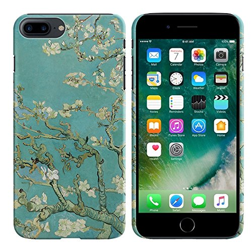 - FINCIBO Case Compatible with Apple iPhone 7 Plus/ 8 Plus, Back Cover Hard Plastic Protector Case Stylish Design for iPhone 7 Plus / 8 Plus (NOT FIT iPhone 7/8) - Almond Blossom Van Gogh