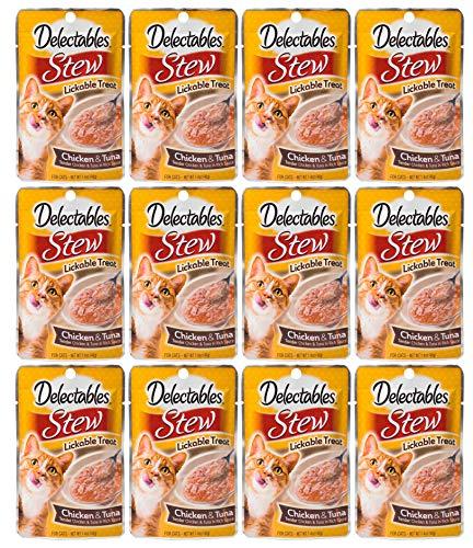 Delectables Stew Lickable Wet Cat Treats - Chicken & Tuna - 12 ()