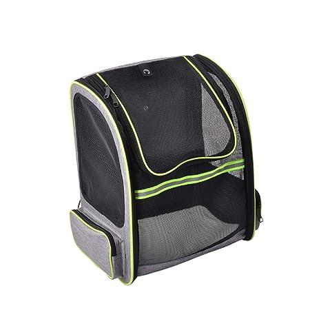 POPETPOP Mochila para Transportar Mascotas, Transpirable, diseño de Cabeza de Perro, Bolsa de