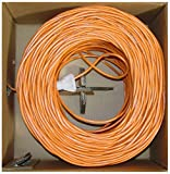 Offex Bulk Cat6 Ethernet Cable Solid UTP, Pullbox, 1000-Foot, Orange (OF-10X8-031TH)