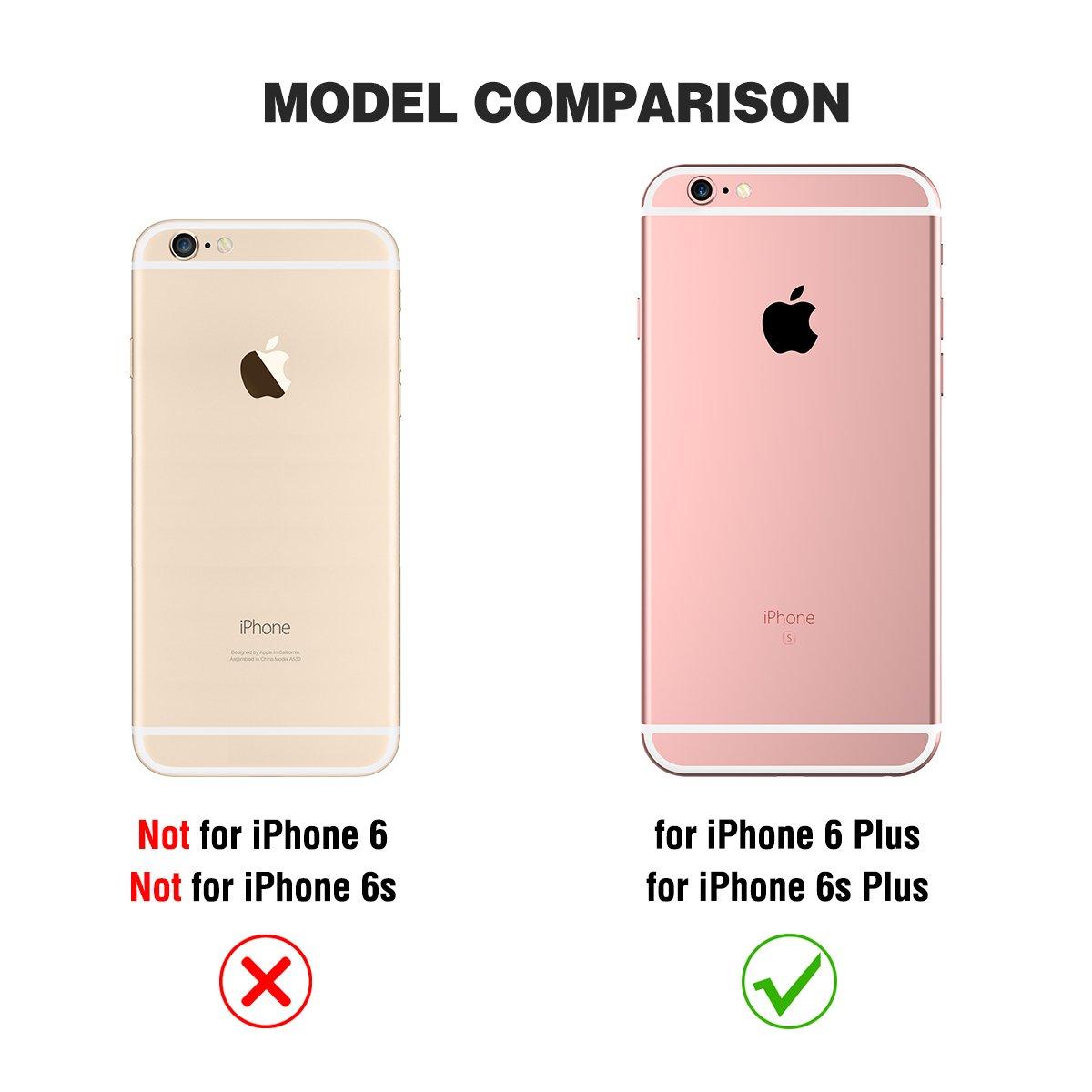 SHIELDON - Etui iPhone 6s Plus, Coque iPhone 6s Plus,Housse TPU  Portefeuille de Protection pour iPhone 6 Plus, en Cuir Véritable, avec  Rangements de Cartes, ... 042a906988c