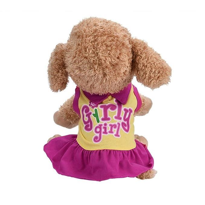 Amazon.com: iMakcc vestido de perro pequeño, a la moda, para ...
