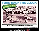 1977 Topps # 435 Turn Back The Clock Maury Wills Los Angeles Dodgers (Baseball Card) Dean's Cards 4 - VG/EX Dodgers