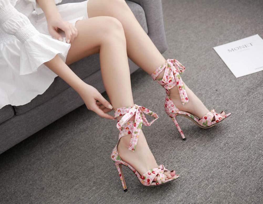 Mamrar D Pump Floral Ankle Straps Sandalen damen Open Toe D Mamrar ' Orsay 11cm Stiletto OL Court schuhe Party Dress Schuhe Eu Größe 34-40 fda6d3
