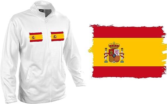 MERCHANDMANIA Chaqueta Tecnica KLUSTEN 2 Dibujos Bandera ESPAÑA Pais Unido Jacket: Amazon.es: Ropa y accesorios