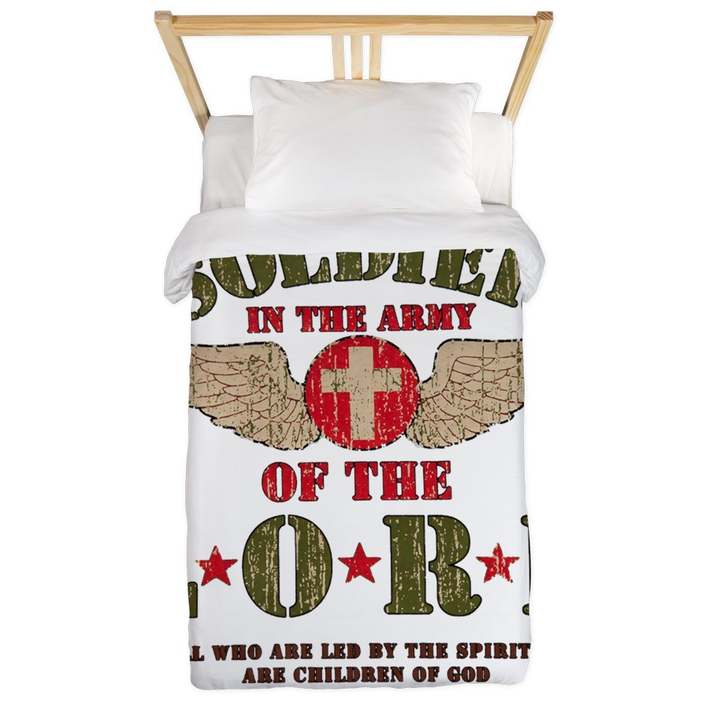 Twin Duvet Cover Soldier in the Army of the Lord by Royal Lion