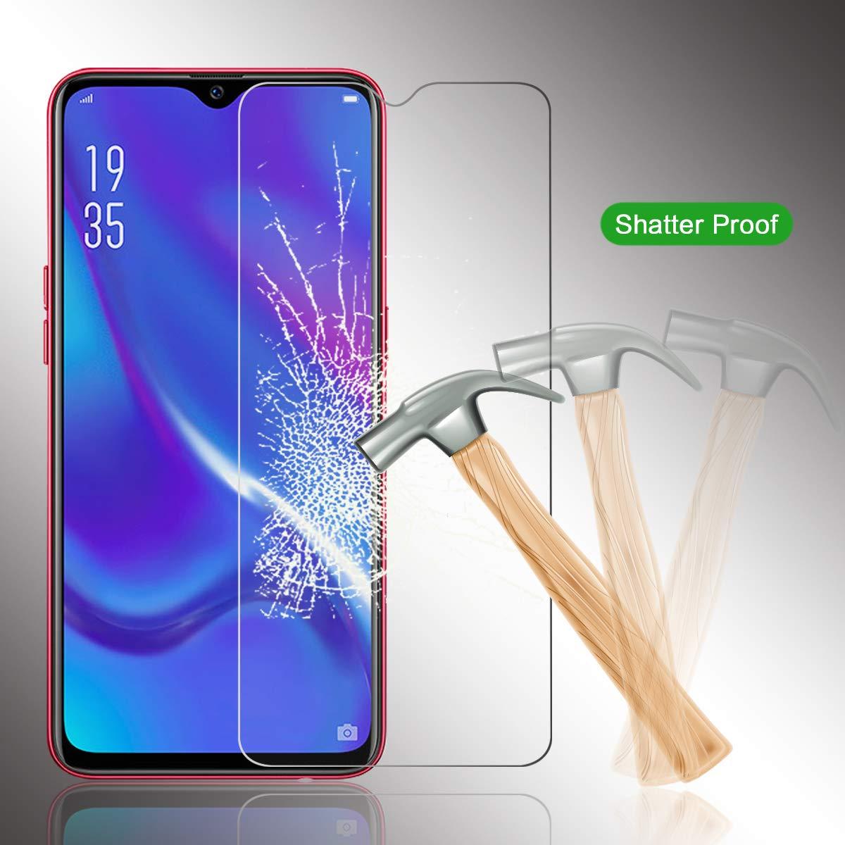 As Shown Casefirst Oppo RX17 Neo Film Tremp/é Protection 3D Touch Verre tremp/é Anti Rayures Anti-D/érapant Haute duret/é R/ésistant aux Rayures Ultra Duret/é Glass Screen Protector