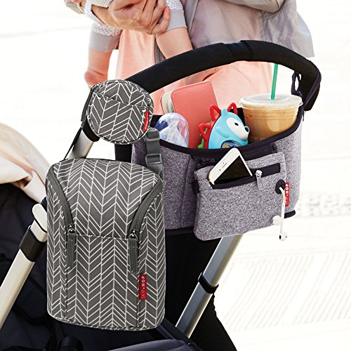 Skip Hop Insulated Breastmilk Cooler And Baby Bottle Bag, Grab & Go Double, Grey Feather by Skip Hop (Image #3)