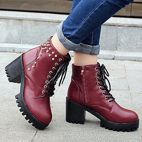 88e5a463 Acampada y senderismo GTVERNH-Remache Zapatos De Mujer Mujer Tacon  Plataforma Tacon Alto Impermeable De Estilo ...