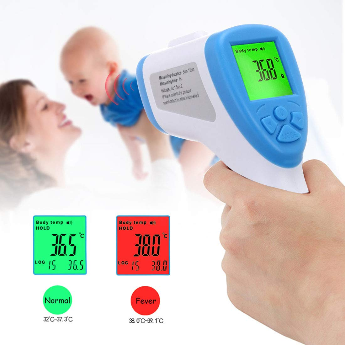 Child Non-Contact Digital Infrared Forehead Thermometer Accurate Instant Readings No Contact Digital Infrared Professional Thermometer for Baby Upgrade Adult 2020