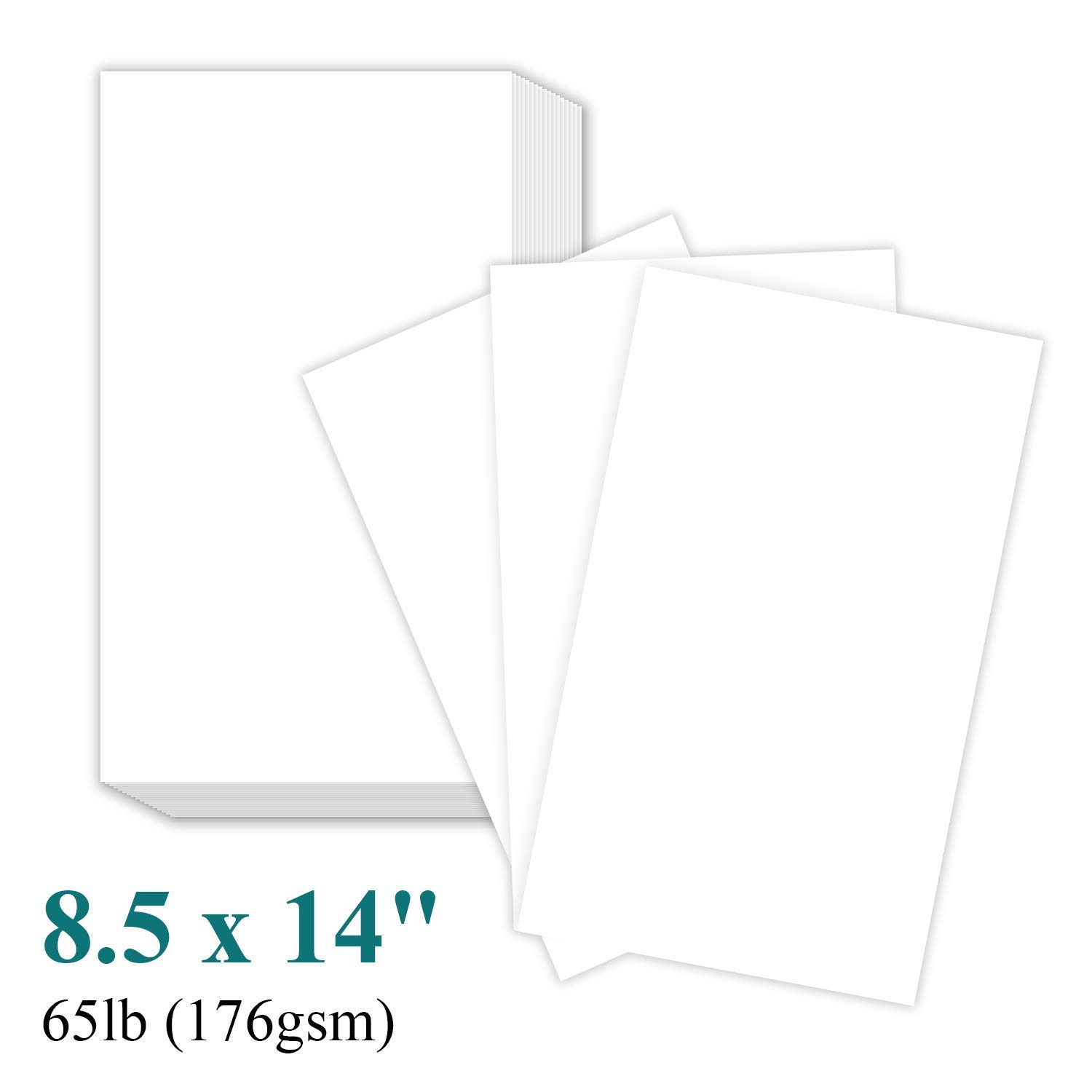 8 1/2 x 14'' Legal Size Card Stock Paper - Premium Smooth 65lb Cover Cardstock - Perfect for Documents, Programs, Menus Printing | 100 Sheets Per Pack by S Superfine Printing