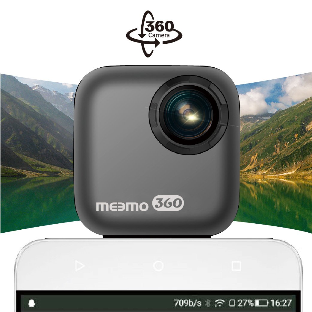 MEEMO 360 Degree Panoramic Camera 3K Weight 40g Attachable Camera Shot with Type C or Micro USB on Mobile Phone with Android 5.0 or Higher