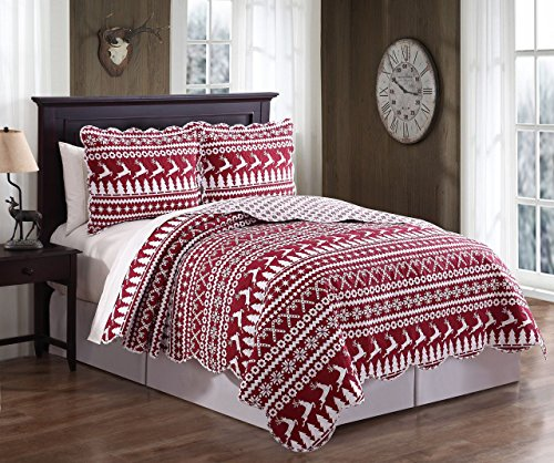 red and white quilt - 1