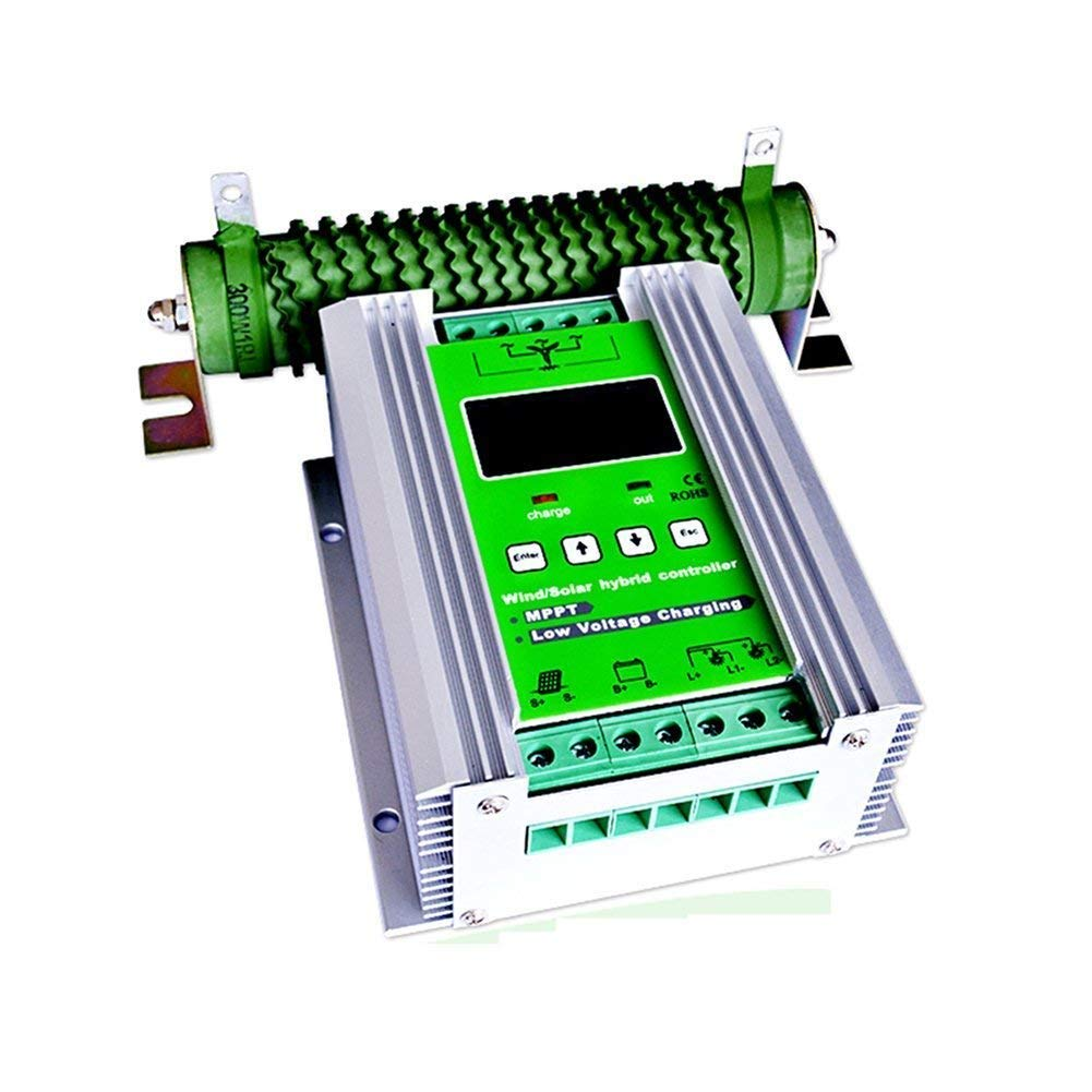 1000W Wind Solar Hybrid Charge Controller ,Off Grid MPPT Wind Turbine Solar Charge Controller Hybrid Controller 600W Wind and 400W Solar Panel 12V/24V Auto Distinguish