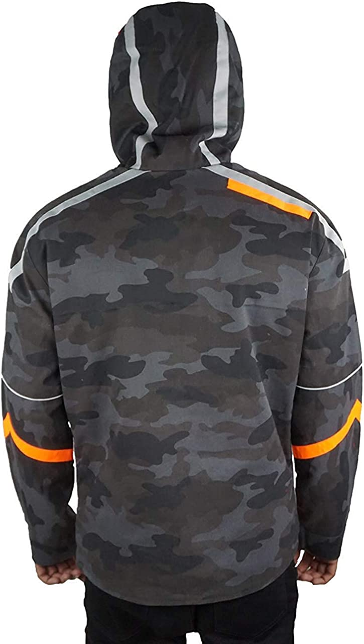 Alamodetrend Mens Fashion Camouflage Military Style Hoodie Jacket