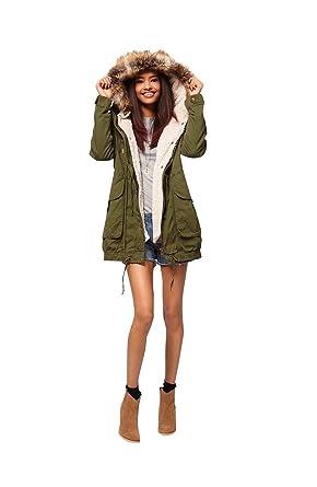 Mantel damen khaki