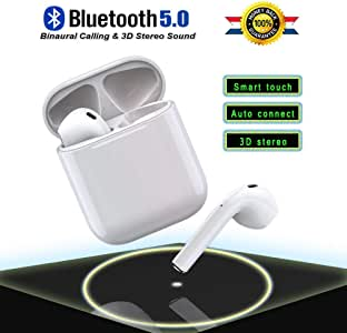 Wireless Bluetooth 5.0 Headphones in-Ear Wireless Earbuds 24 Hour Playtime 3D Stereo IPX5 Waterproof Sports Headset,for Android Samsung iPhone Apple of