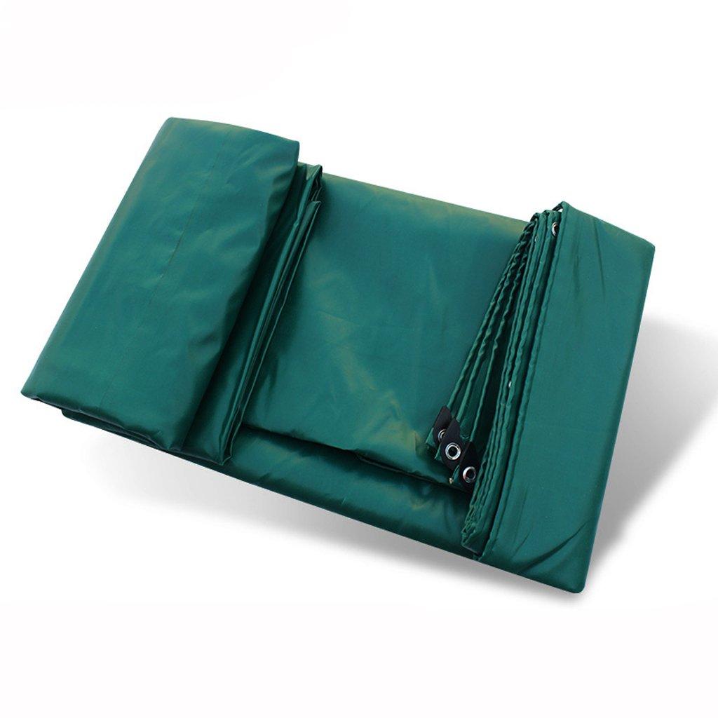 厚い雨布防水布3つの布雨の防水PVCコーティングされた車の防水シート (色 : 濃い緑色, サイズ さいず : 4 * 5m) B07FLTGF11 4*5m|濃い緑色 濃い緑色 4*5m