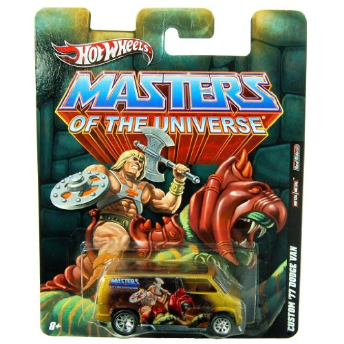 ['77 DODGE VAN * HE-MAN * Hot Wheels Masters of the Universe 2011 Nostalgia Series 1:64 Scale Die-Cast Vehicle] (He Man Vehicle)