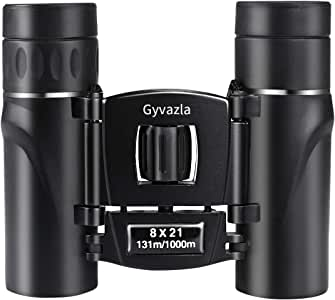 Binoculars, Gyvazla 8X21 High Powered Compact Binoculars Telescope for Concert Sports Game Outdoors Hiking Travel Bird Watching, Suitable for Adults and Kids