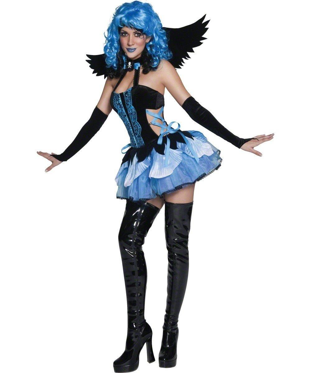 Stricken Engel (Blau und schwarz) -Tainted Garten - Erwachsene Halloween Kostüm B0040QZAKA Kostüme für Erwachsene eine große Vielfalt    Rabatt