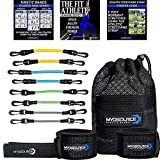 Kinetic Bands Leg Resistance Speed Bands – Speed and Agility Digital Training Videos, Workout Guides, Bonus Stretching Strap – 3 Options (BEG, INT, ADV) Specifically Designed for Maximum Results