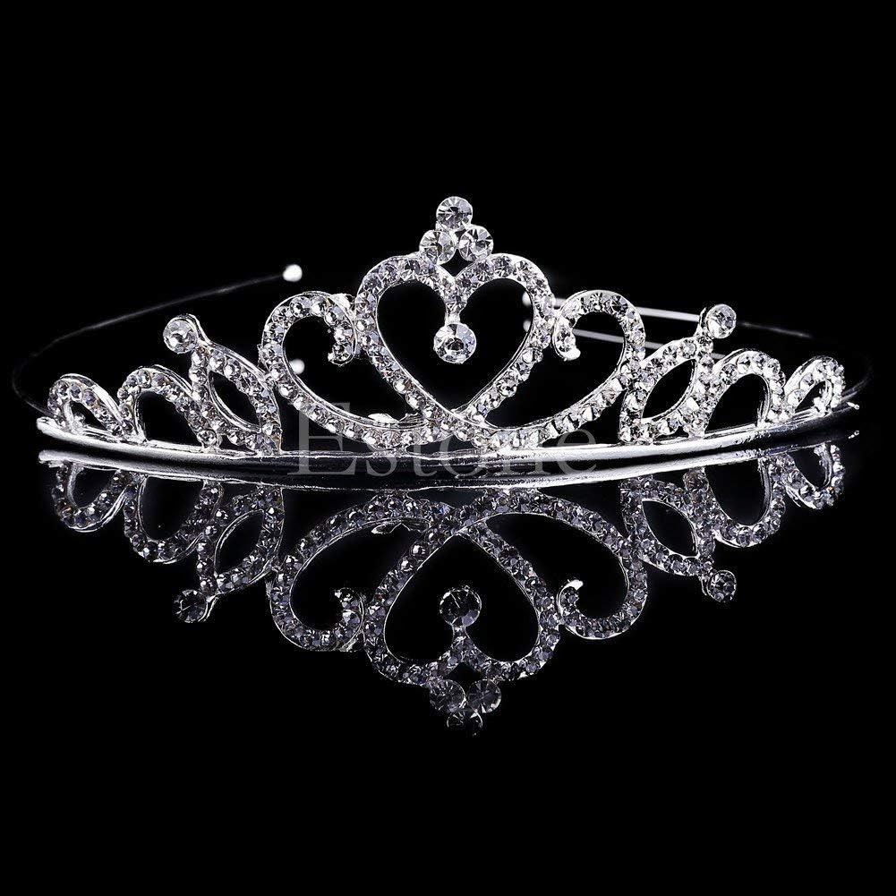 Toruiwa Diad/ème Couronne Princesse avec Cristal Strass pour Mariage Anniversaire pour Femme Fille