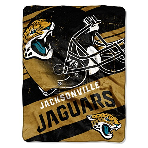 y Officially Licensed NFL Jacksonville Jaguars Deep Slant Micro Raschel Throw Blanket, 46