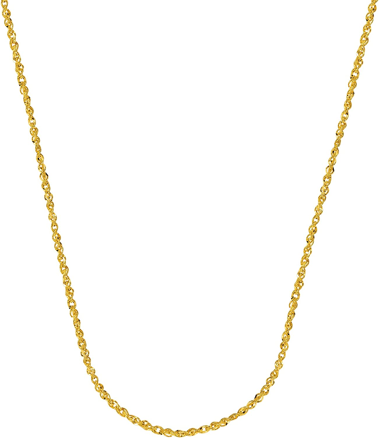 14Kt Gold Sparkle Singapore Chain With Lobster Lock Singapore Chain 20 Inches Long