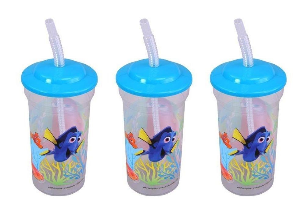 3-Pack Disney-Pixar Finding Dory 16oz Sports Tumbler with Lid /& Straw United Pacific Design