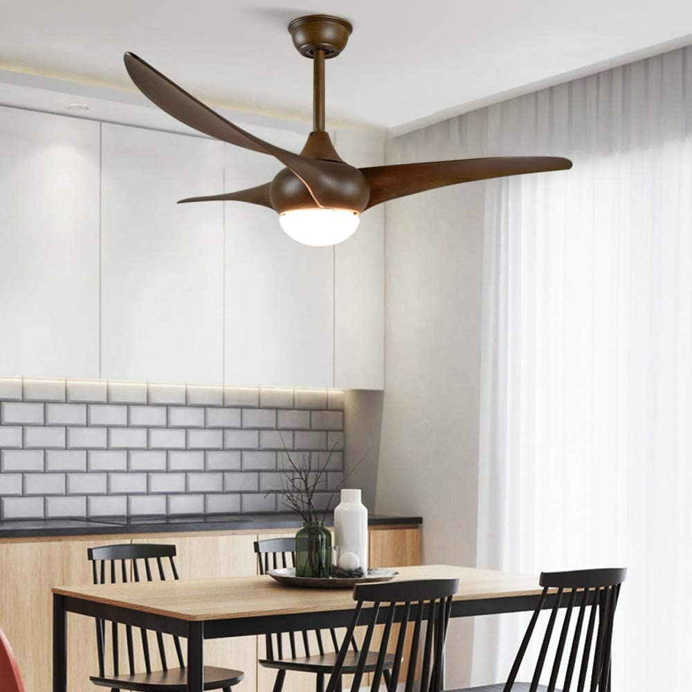 Color Changeable 3000K-6000K Depuley Farmhouse Ceiling Fan with Light and Remote Control 52 Inch Flush Mount Ceiling Fan Wood Blades Light Fixture for Dining Room//Living Room//Outdoor