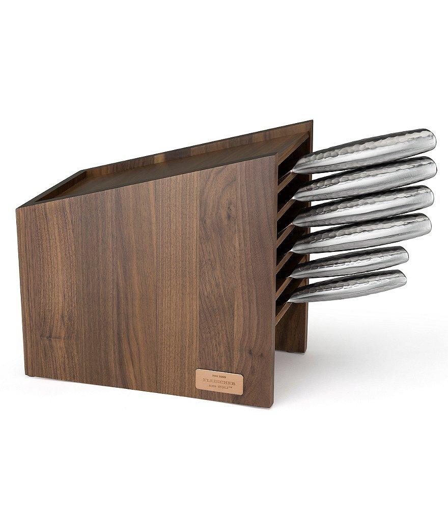 Fleischer & Wolf Hammered Titanium Knife Block Set - 7 Pieces