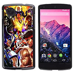CASETOPIA / Gaming / LG Google Nexus 5 D820 D821 / Prima Delgada SLIM Casa Carcasa Funda Case Bandera Cover Armor Shell PC / Aliminium