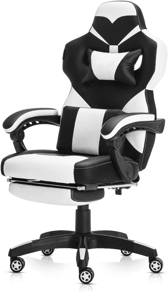 Racing Style PU Leather Gaming Chair – Ergonomic Swivel Computer, Office or Gaming Chair Desk Chair HOT WH0