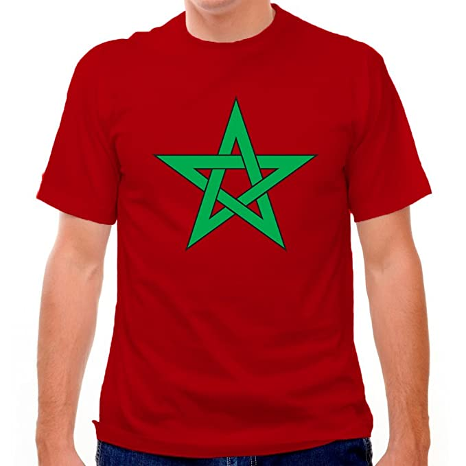 Camiseta de fútbol bandera de Marruecos Rosa rosa medium