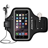 iPhone 7 / 8 / 7+ / 8+ Armband, JEMACHE Fingerprint Touch Supported Gym Running Workout/Exercise Arm Band Case for iPhone 6/6S/7/8, iPhone 6/6S/7/8 Plus with Key/Card Holder