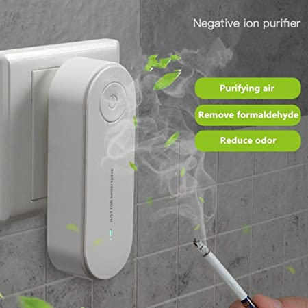 Smoke/& More Suitable for Bedrooms Garages Study Rooms Toilets TALLDU Portable Negative Ion Generator for Home Travel Plug in Air Purifier Pollutants Remove Smell
