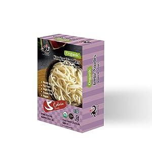 YUHO Organic Shirataki Konjac Pasta 8 Pack Inside, Vegan, Low Calorie Food, Gluten Free, Fat Free, Keto Friendly, Zero Carbs, Healthy Diet Pasta 53.61 Oz, 8 Noodle
