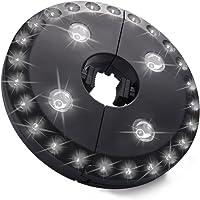 LEDGLE Lampe Parasol de Jardin 200 Lumens Lampe Tente de Camping avec 3 Modes d'éclairage pour Camping/Barbecue/ Activités de Plein Air