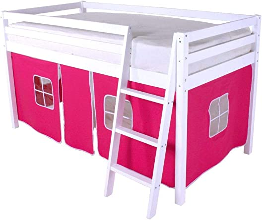 HLS pink Tent for Midsleeper Cabin Bunk Bed