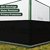SoLGear 6' x 50' Privacy Fence Screen with Brass Grommets Heavy Duty 140GSM Pefect for Outdoor Back Yard Patio and Deck Black