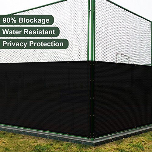 SoLGear 5' x 50' Privacy Fence Screen with Brass Grommets Heavy Duty 140GSM Pefect for Outdoor Back Yard Patio and Deck Black