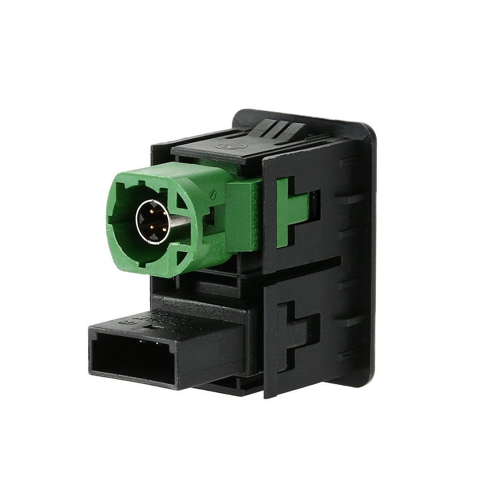 KKmoon USB AUX Audio Cable Plug Switch for VW Passat B6 B7 CC Touran Polo Facelift RCD510 // 310