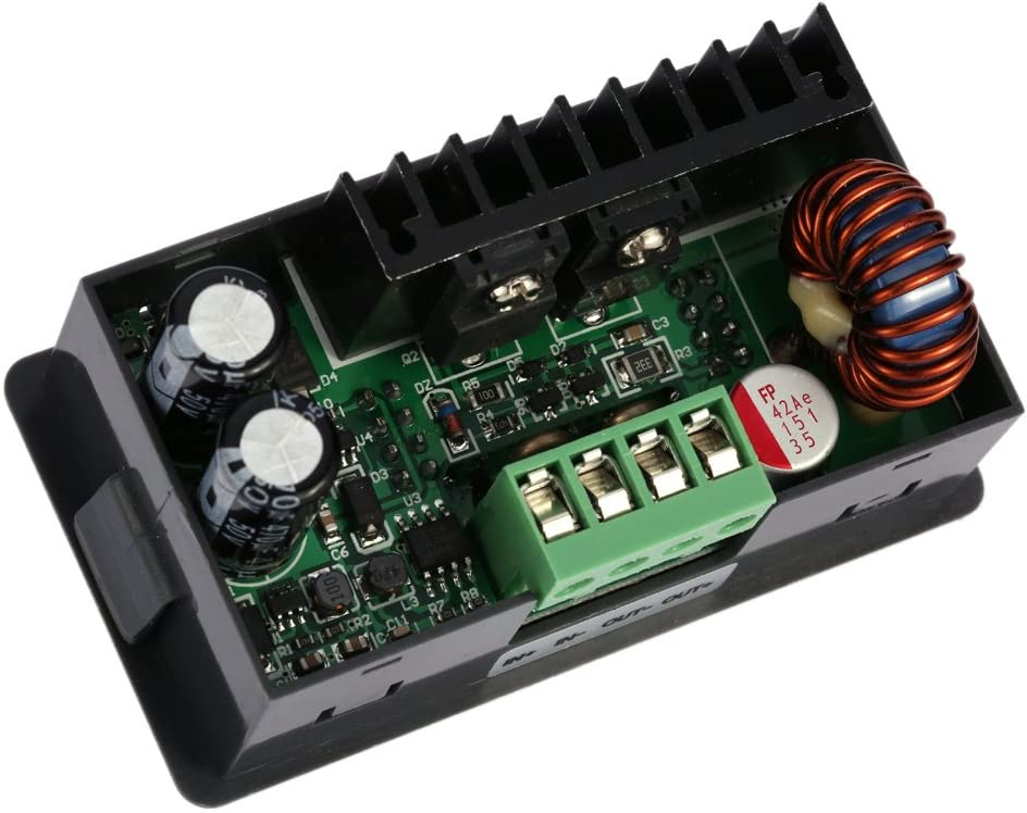 KKmoon DC 0-50.00V//0-5.000A Regolabile Tensione Regolatore Convertitore Step-Down Modulo a Tensione Costante Programmabile