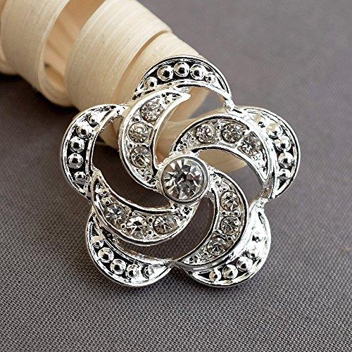 10 pcs Rhinestone Button Crystal Button Wholesale Button Bridal Brooch Bouquet Napkin Ring Jewelry Wedding Invitation Supplies BT603