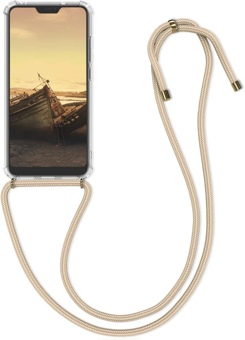 kwmobile Funda con Cuerda Compatible con Xiaomi Redmi 6 Pro/Mi A2 Lite - Carcasa Transparente de TPU con Cuerda para Colgar en el Cuello