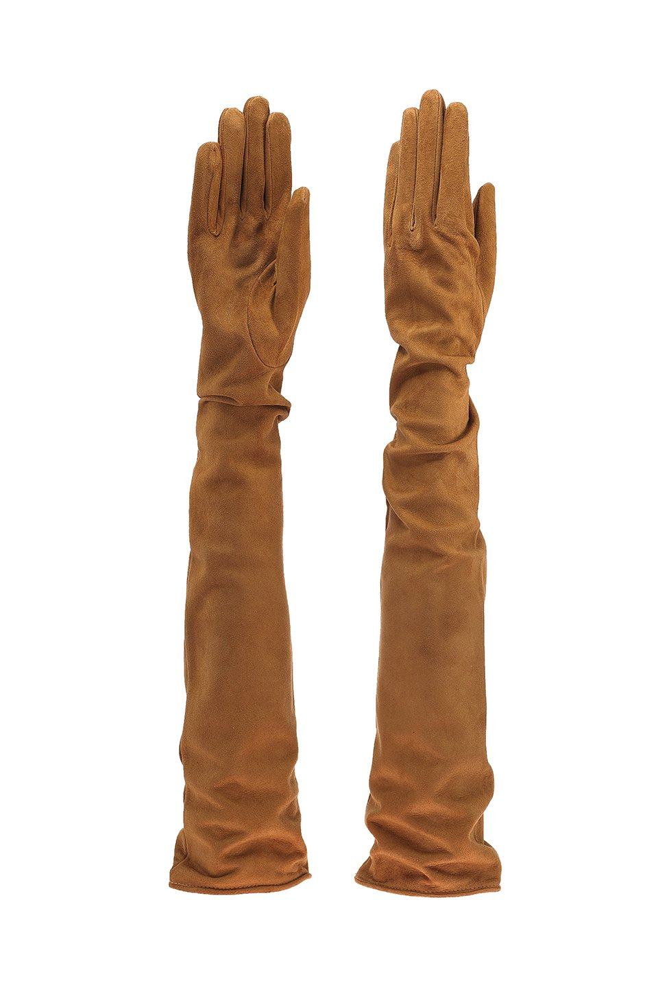 Parisi Gloves - Italian Leather Gloves 60cm long - silk lining - 16Pst (8, COLONIAL SUEDE)