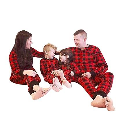 iusun family pajamas matching sets red cotton plaid family christmas pajamas romper sleepwear red