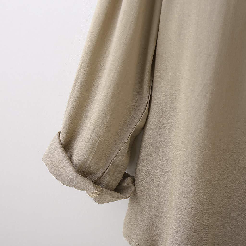 Fxbar,Mens Loose Shirt Tops Blouse Fashion Lightweight Coat